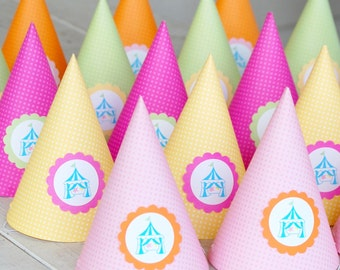 The CIRCUS CARNIVAL Collection - Custom Party Hats from Mary Had a Little Party