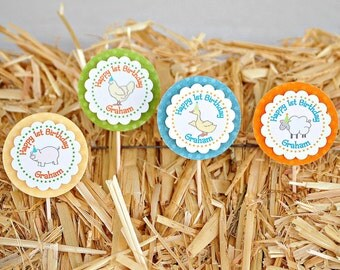 The Vintage Farm Collection - Custom Cupcake Toppers from Mary Had a Little Party