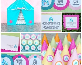 The CIRCUS/ CARNIVAL Collection - Custom Signs from Mary Had a Little Party