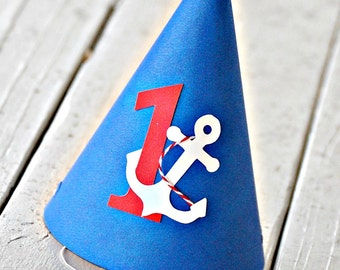 The NAUTICAL Fare - Custom Party Hat from Mary Had a Little Party