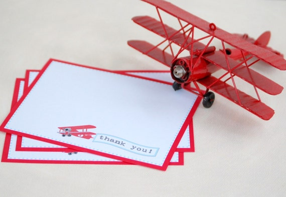 The Vintage Plane Collection - Custom Thank You Cards from Mary Had a Little Party