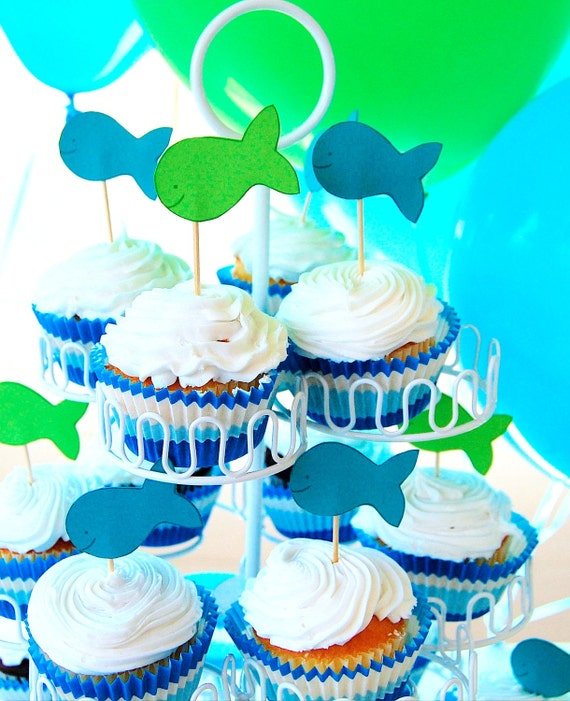 The MERMAID Collection - Personalized Cupcake Toppers