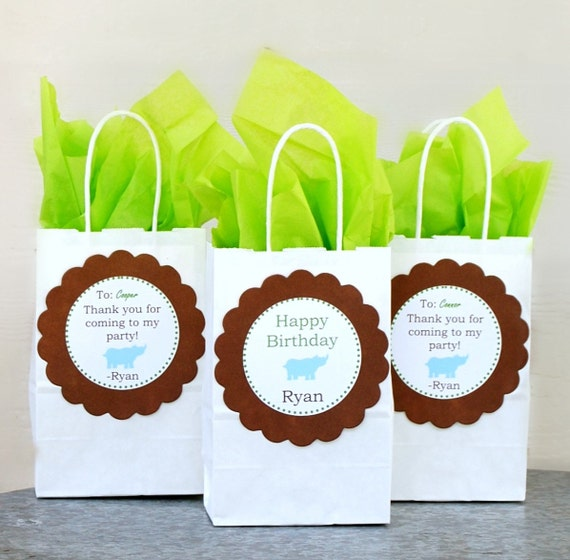 The Safari / Zoo Collection - Fantastic Favor Bags from Mary Had a Little Party