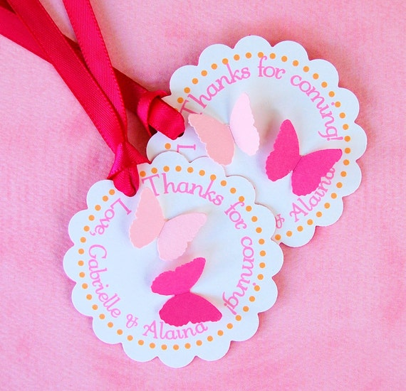 The BUTTERFLY COLLECTION - Fantastic Favor Tags with Bags from Mary Had a Little Party