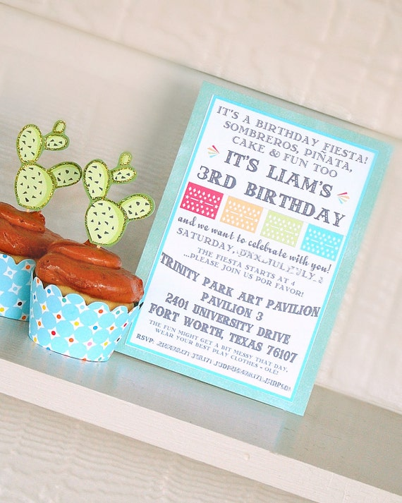 The FIESTA Collection - Custom Invitations from Mary Had a Little Party