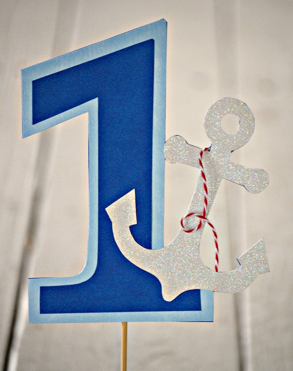 The NAUTICAL Fare - Custom Number Cake Topper from Mary Had a Little Party