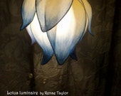 Light Blue Standard Lotus Luminaire (Lamp) by Renae Taylor