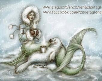 Cocoa Mermaid.....POST Card