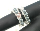 Crystal Band Adjustable Handwired Ring