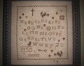 1857 Fall Sampler X Stitch Pattern