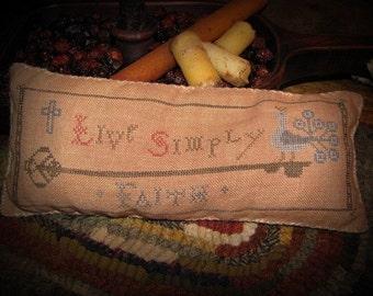 Live Simply Faith Pinkeep X Stitch Pattern