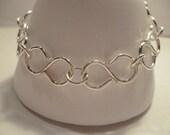 Sterling Silver Chain Bracelet Infinity Figure 8 Links