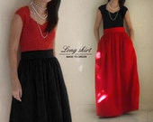 Fully lined floor length skirt with pockets - custom size and length for your party / wedding / bridesmaids in black, blue, mint green, red