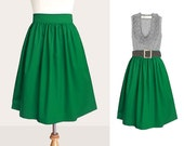 NEW Custom cotton skirt with side pockets 22 inches long