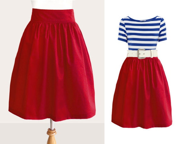 Custom red skirt WITHOUT pockets