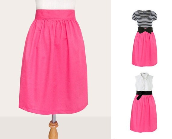 Reserved for StephanieMathieson - Custom fully lined skirt with side pockets in pnk or any colors