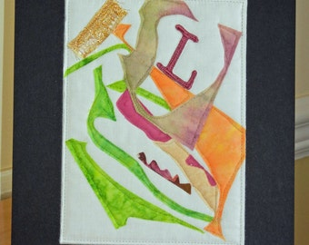 Orange Green Purple  L Fabric Tangles
