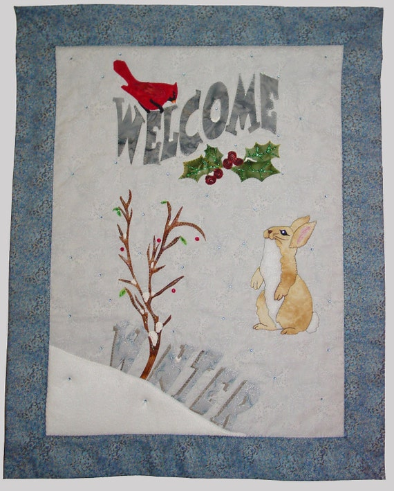 Welcome Winter Quilt Design Wall Hanging