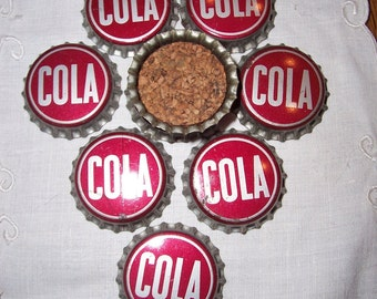 10 Vintage Cola Bottle Caps Pop Tops