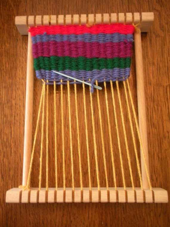 Small Wooden Weaving Loom For A Child