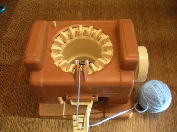 Vintage Knitting Machine : Vintage mattel kid s knitting machine by wheretheroostercrows