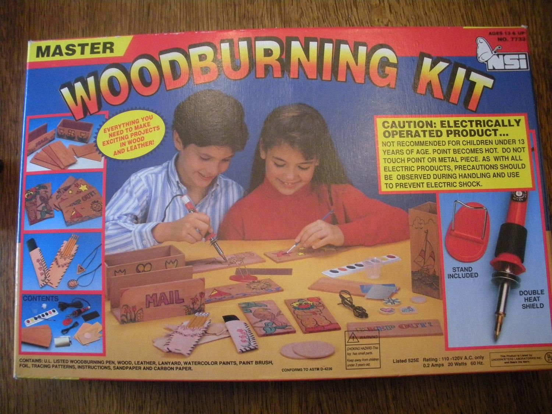 Kid S Master Woodburning Kit Do It Yourself Creative Fun