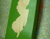 new jersey state block silhouette: custom wood block painting (select any state)