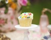White mini wood  cupcake stand  or cake pop stand so sweet