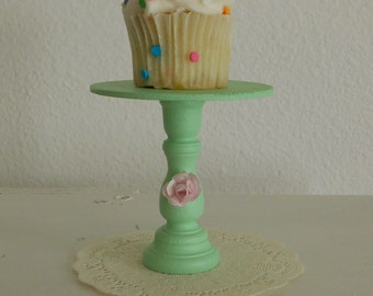 Mini cupcake stand Shabby chic Mint green  or cake pop stand ECS