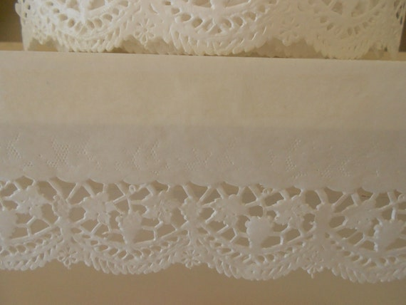 Shabby French Chic Lace Paper Shelf Liner Edge Paper For