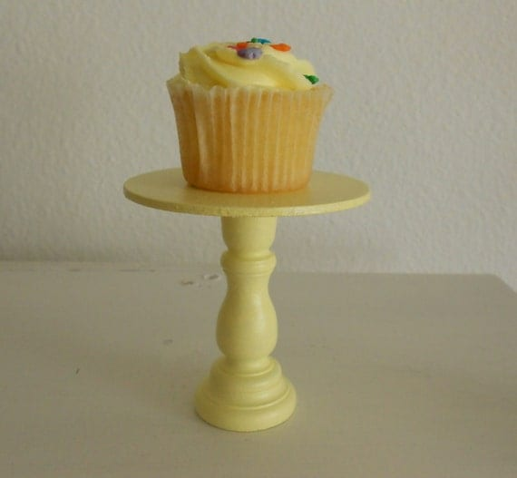 Yellow mini wood cupcake stand  reserved for dianaleon2