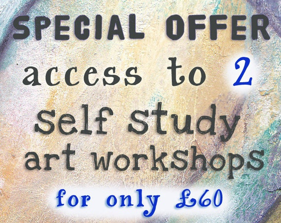 SPECIAL OFFER - Buy Access to 2 Self Study Art Workshops at a Reduced Price
