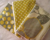 Mustard Martini Burp Cloth Set -- Colorful, Absorbent, and So Stylish - See Shop for MORE Yummy Designs