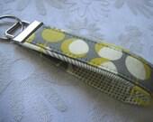 Fabric Key Fobs -  Fabric Keychain - Key Wristlet - Key Fob - Mustard Martini