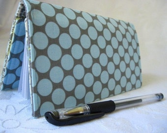 """Designer Fabric Checkbook Covers/Coupon Holders - """"SKY DOTS"""""""