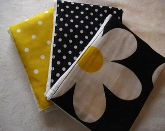Navy Plain Jane Burp Cloth Set -- Colorful, Absorbent, and So Stylish