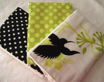 Hummingbirds Burp Cloth Set -- Colorful, Absorbent, and So Stylish