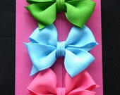 Pick any FOUR colors I have 85 color choices in these small hair bows hairbow