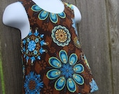 Crossback Top --- Floral Medallion Reversible Pinafore (((LAST ONE)))