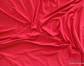 Clearance --- Classic Red 2 way Stretch Fabric ---1 yard