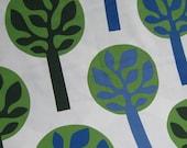 PRICE CUT - Fredrika Blue and Green Trees from Ikea - 1 Yard