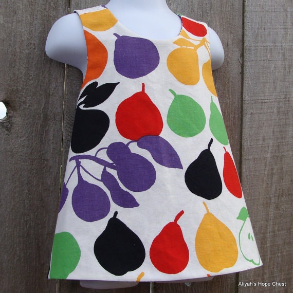 PiNaFoRe Sewing Kit (((vintage pears))) yOu MAKE iT - Sizes 6M - 4T --- on sale now
