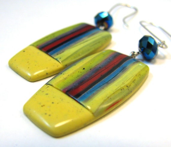 Southwestern Landscapes Series - Agave Flower Polymer Clay Earrings