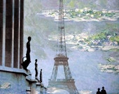 Landscape, Springtime, Fine Art Print, Giclee Archival Print, Photomontage, Photography, Paris