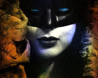 Femme au Masque ......8x8 archival fine art print