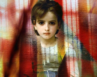 Fine Art Print, Giclee Archival Print, Photomontage, Collage, Painted Photographs, Inner Child