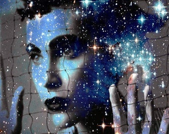 Fine Art Print, Giclee Archival Print, Photomontage, Collage, Painted Photographs, Caught in Stardust and Wonderlust by ImagineStudio.