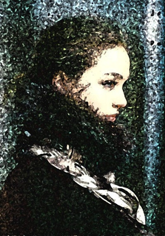Giclee Archival Print, Photomontage, Collage, Painted Photographs, Portrait of Winter