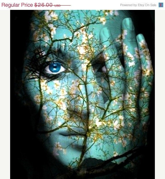 home decor wall art woman portrait spirit of spring woodlands - Home Decor Wall Art
