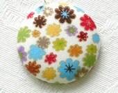 Springtime In Bloom - designer fabric pendant